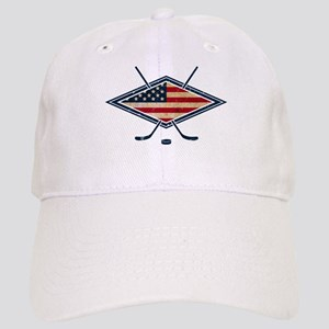 USA Hockey Flag Logo Baseball Cap