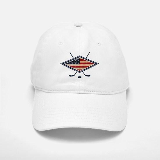 USA Hockey Flag Logo Baseball Baseball Baseball Cap