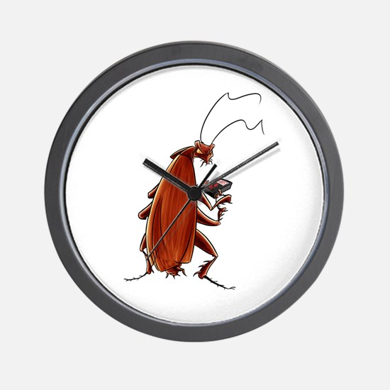 Nuclear button roach Wall Clock