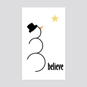 Believe Rectangle Sticker
