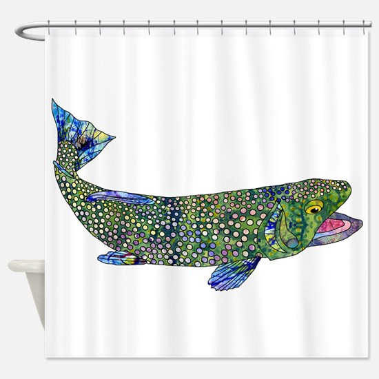 Wild Trout Shower Curtain
