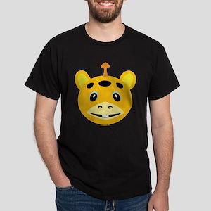 One Horned Orange Monster Dark T-Shirt