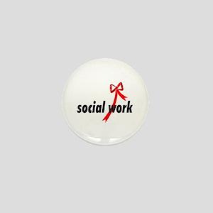 Social Work Ribbon Mini Button