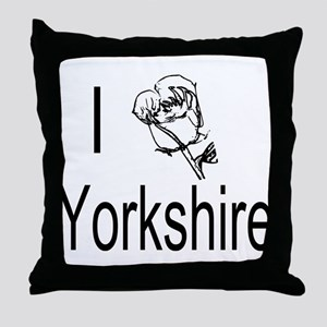 I Love Yorkshire Throw Pillow