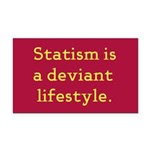 Statism Lifestyle Rectangle Car Magnet