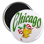 Chicago Christmas Magnet