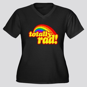 Retro Vintage 80s Totally Rad Plus Size T-Shirt