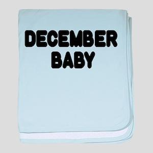 DECEMBER BABY baby blanket