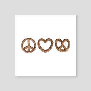 Peace Love Pretzel Sticker
