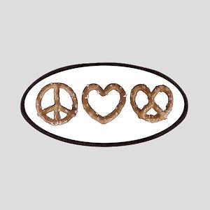 Peace Love Pretzel Patches