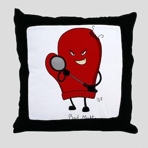 Bad Mitten (Badminton) Throw Pillow