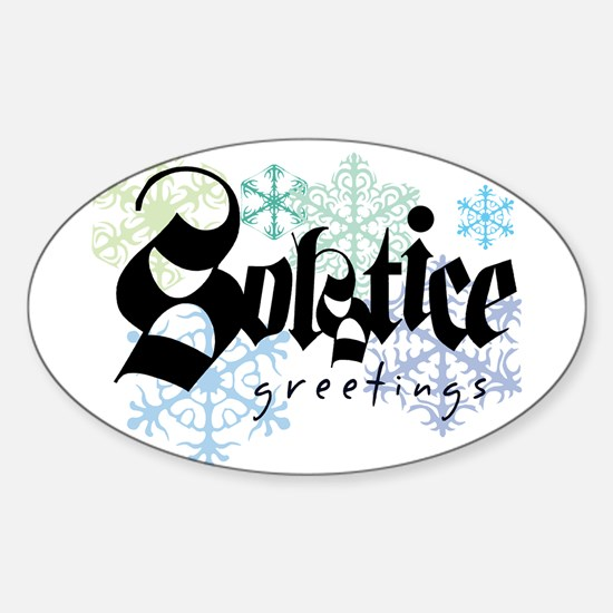 Solstice Greetings Oval Decal