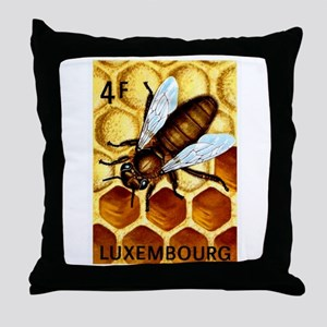 Vintage 1973 Luxembourg Bee Postage Stamp Throw Pi
