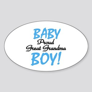 Baby Boy Great Grandma Oval Sticker