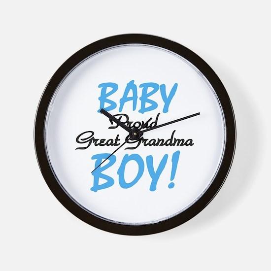 Baby Boy Great Grandma Wall Clock