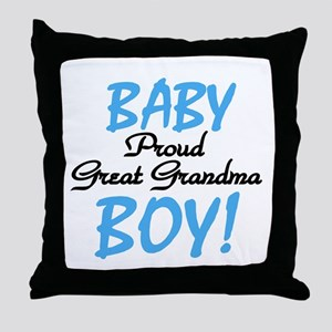 Baby Boy Great Grandma Throw Pillow