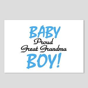 Baby Boy Great Grandma Postcards (Package of 8)