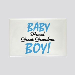 Baby Boy Great Grandma Rectangle Magnet