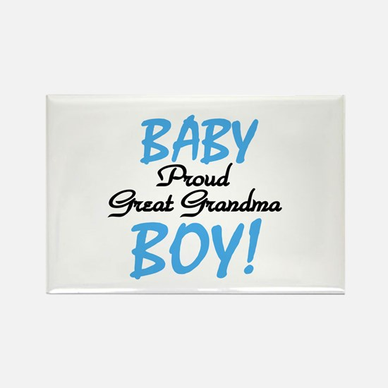 Baby Boy Great Grandma Rectangle Magnet