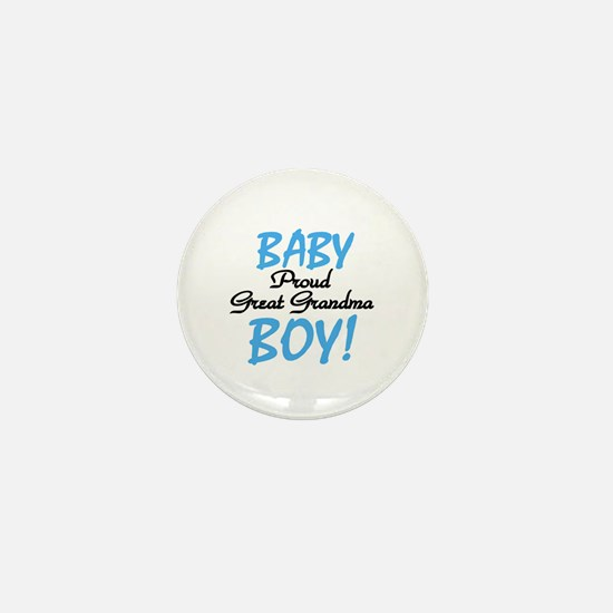 Baby Boy Great Grandma Mini Button