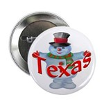 Texas Snowman Button