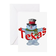 Texas Snowman Greeting Cards (Pk of 10)