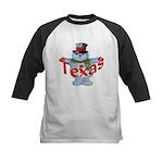 Texas Snowman Kids Baseball Jersey