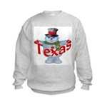 Texas Snowman Kids Sweatshirt