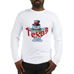 Texas Snowman Long Sleeve T-Shirt