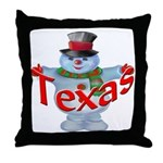 Texas Snowman Throw Pillow