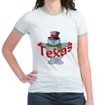 Texas Snowman Jr. Ringer T-Shirt