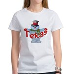 Texas Snowman Women's T-Shirt