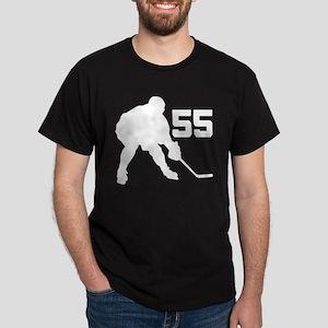 Hockey Player Number 55 Dark T-Shirt