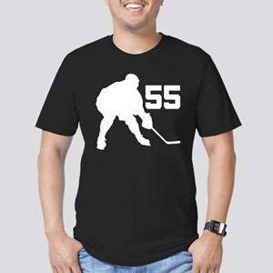 Hockey Player Number 55 Men's Fitted T-Shirt (dark