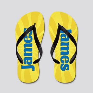 James Sunburst Flip Flops