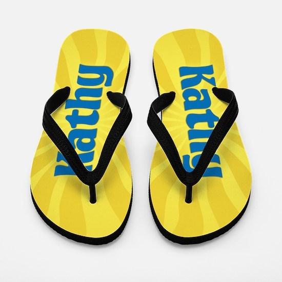 Kathy Sunburst Flip Flops