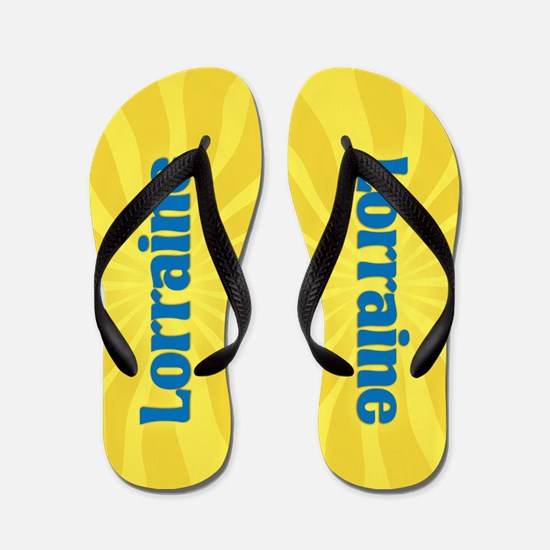 Lorraine Sunburst Flip Flops