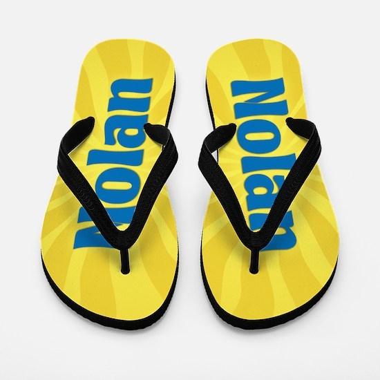 Nolan Sunburst Flip Flops