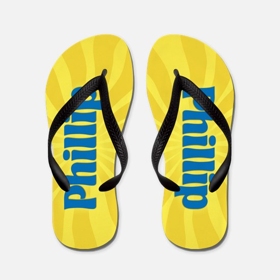 Phillip Sunburst Flip Flops