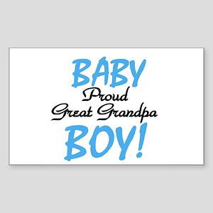 Baby Boy Great Grandpa Rectangle Sticker