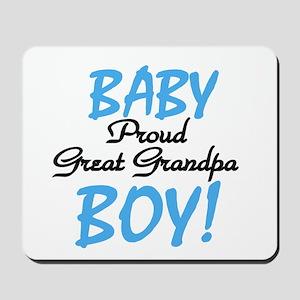 Baby Boy Great Grandpa Mousepad