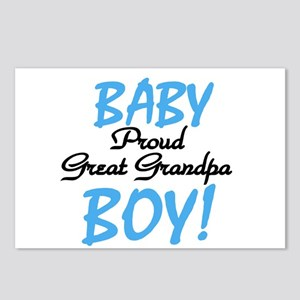 Baby Boy Great Grandpa Postcards (Package of 8)