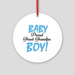 Baby Boy Great Grandpa Ornament (Round)