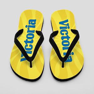 Victoria Sunburst Flip Flops