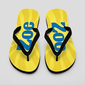 Zoe Sunburst Flip Flops