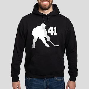 Hockey Player Number 41 Hoodie (dark)