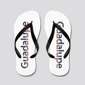 Guadalupe Stars and Stripes Flip Flops