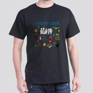 VOLUNTEER TWOSTARS DO IT ALL DESIGN. Dark T-Shirt
