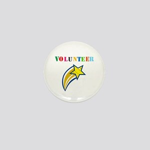 VOLUNTEER TWOSTARS DESIGN. STAR. Mini Button
