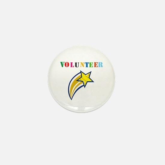 VOLUNTEER TWOSTARS DESIGN. STAR. Mini Button